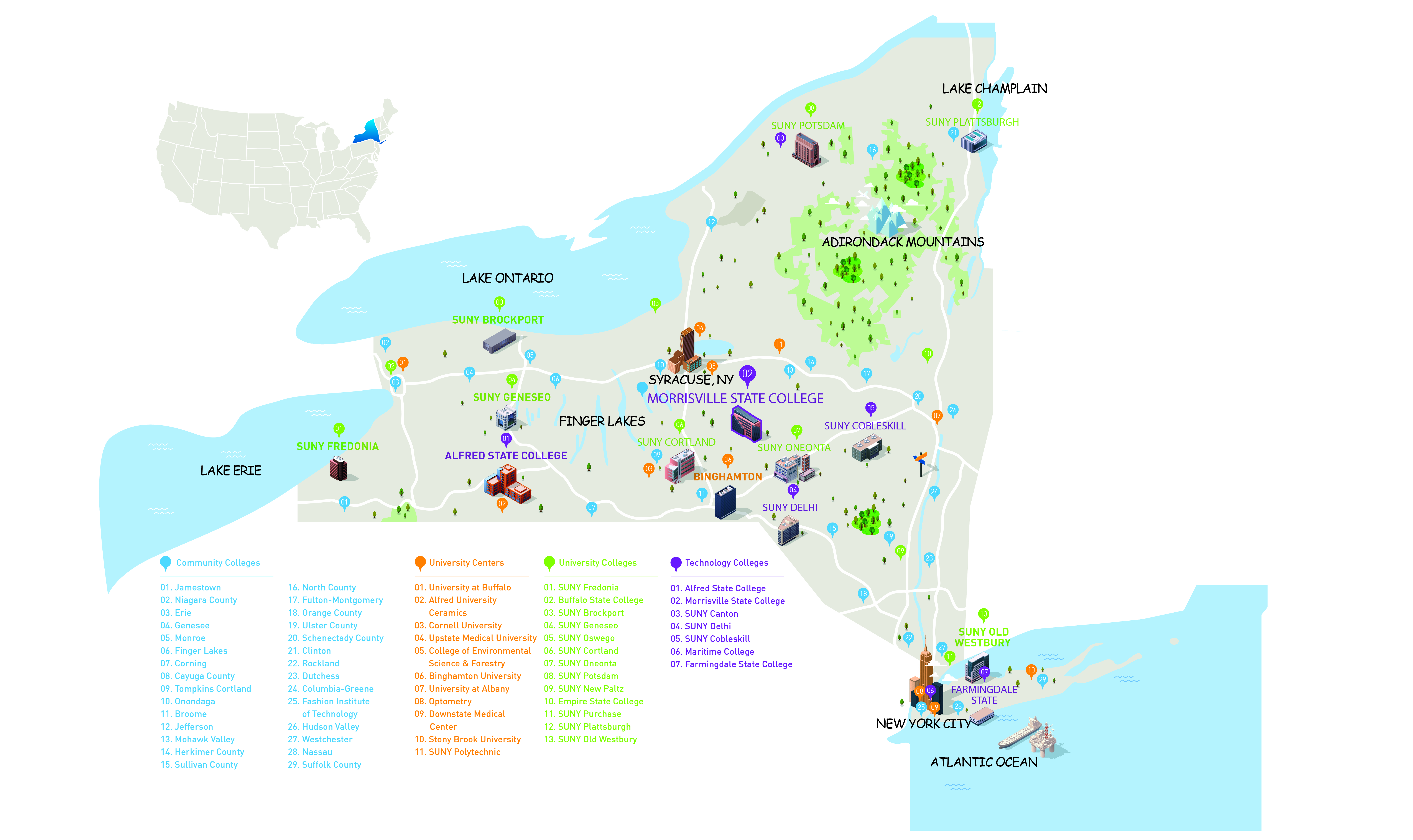 schools in the suny system include. interested in another school outside of suny your university